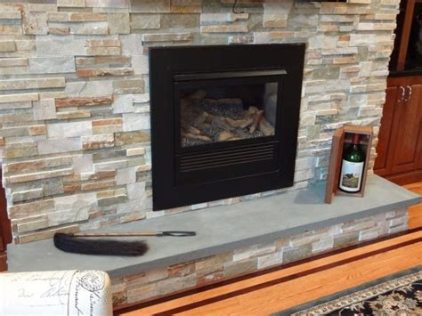 Slate Veneer Fireplace - stacked fireplace stacked fireplace with