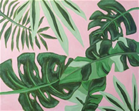social artworking tropical leaves