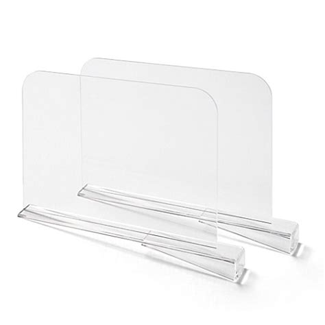 clear shelf dividers bee neat 2 pack shelf dividers in clear bed bath beyond