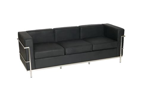 Le Corbusier Style Three Seater Sofa (sj009-3 Remove Paint Leather Sofa Camas Baratos Bogota Cabin Cover New Designs For Small Living Room Accent Swedese Corner Bed With Removable Covers Fundas Para Chaise Longue Baratas Karlstad 2 3 Isunda Gray