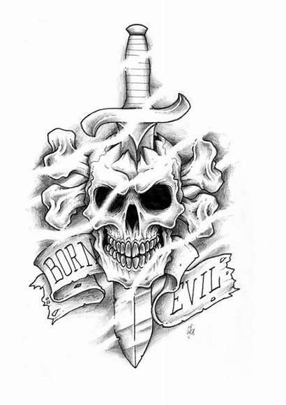 Tattoo Designs Template Templates Skull Tattoos Evil