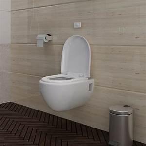 Cuvette Wc Pas Cher : acheter cuvette wc suspendue blanche avec abattant ~ Premium-room.com Idées de Décoration