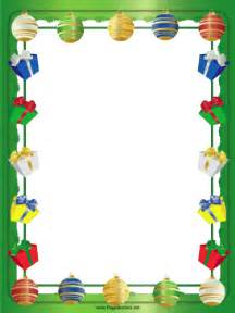 gifts packages and ornaments border