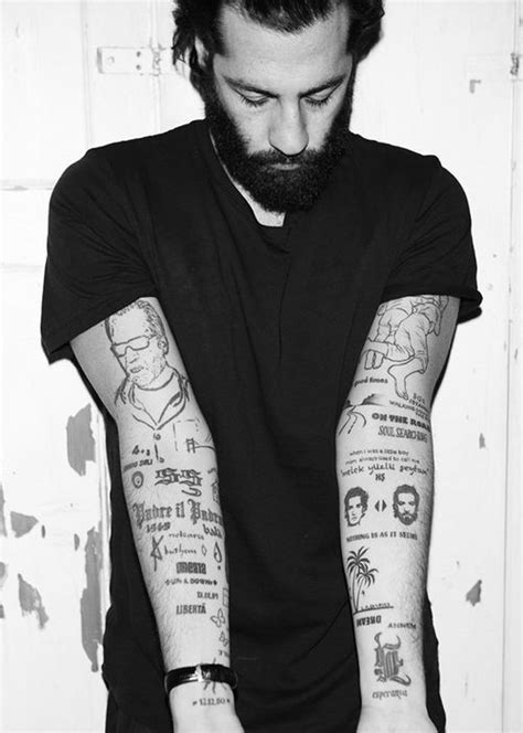 Arms. Sleeves. Tattoo. Black & White. Clean. Clutter. Modern.   lolol   Tattoos, Text tattoo y