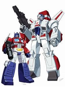 Skyfire and Optimus Prime by Dan-the-artguy on DeviantArt
