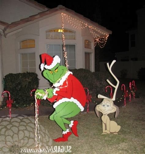 delightful grinch christmas lights outdoor fixtures