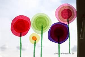 Blumen Basteln Kinder : anleitung f r das fensterbild blumen im fr hling basteln ~ Frokenaadalensverden.com Haus und Dekorationen