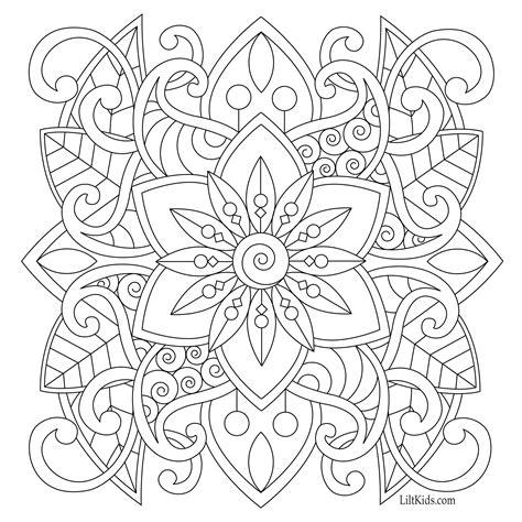 easy mandala  beginners adult coloring book image