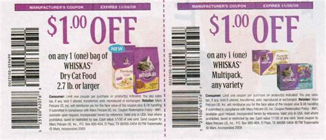 coupons  printable whiskas cat food coupons