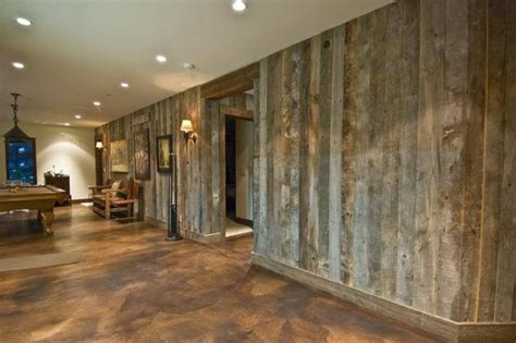 barn wood walls barn woods concrete stained floors house  homes