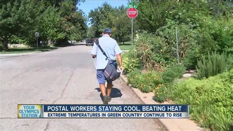 thanks mail carrier warming up rain or shine letter carriers walk for miles daily delivering mail even in extreme heat