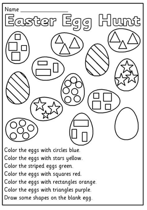 easter egg hunt worksheet for preschool preschool crafts 839 | Easter Egg Hunt Worksheet for Preschool