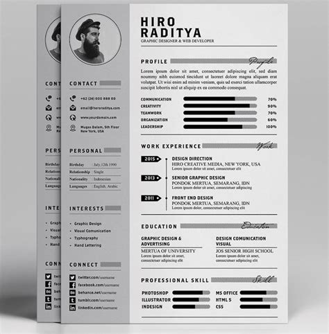 Resume Portfolio Free by Best Free Resume Templates In Psd And Ai In 2017 Colorlib