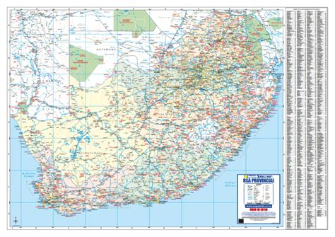 south africa provincial wall map detailed wall map