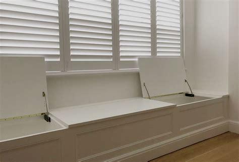 bay window seat  carpentry studio bespoke storage