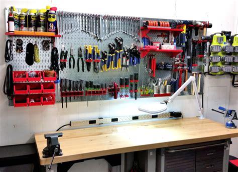 Garage Organization Workshop Tools by 47 Easy Ways To Get Organized Use Of Diy Pegboard