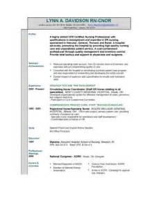 resume sle format resume format businessprocess