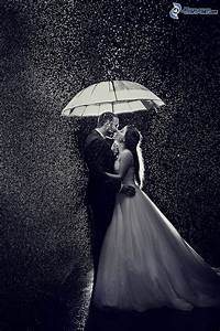 Couple in the rain