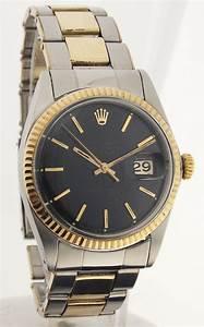 Rolex Uhr Herren Gold : rolex datejust von 1965 herren stahl gold lackzifferblatt ref 1601 ebay ~ Frokenaadalensverden.com Haus und Dekorationen