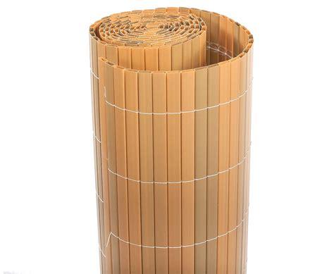Bambus Für Balkon by Balkon Sichtschutz Quot Sylt Quot Mit 120 X 300cm Teak Farbig