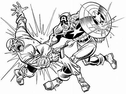 Coloring Skull Captain America Vs Buscema Teschio