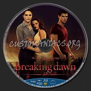 Twilight Breaking Dawn Part 1 Blu Ray Label Dvd Covers