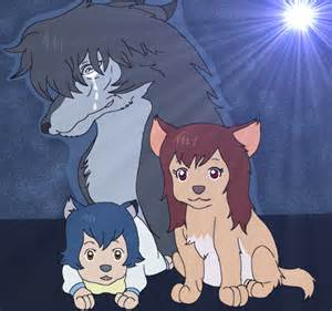 Ookami Wolf Children AME and Yuki Drawing