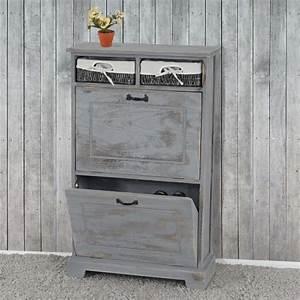 Meuble D Entrée Chaussures : meuble chaussures meuble d 39 entr e gris vieilli achat ~ Farleysfitness.com Idées de Décoration