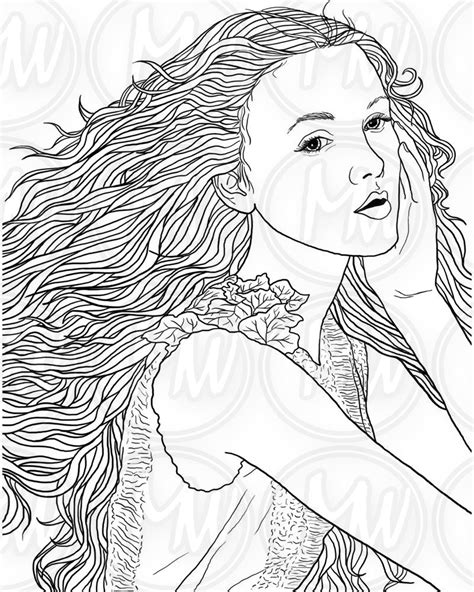 Girl With Curly Hair Drawing at GetDrawings | Free download