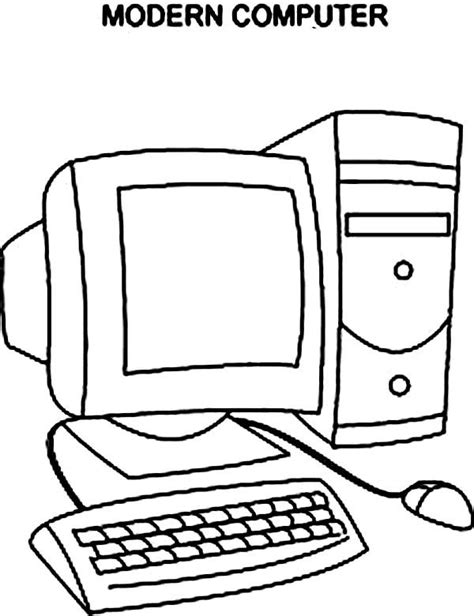Coloring On Computer by Modern Computer Coloring Pages Diyaan Elementary