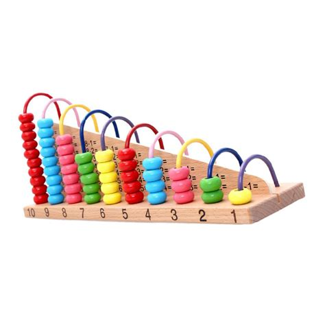 kids wooden toys child abacus counting beads maths