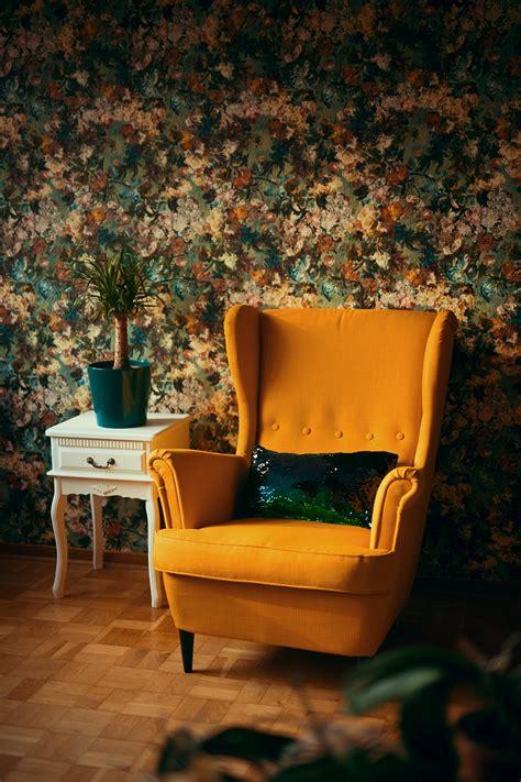 Florale Tapete Im Wohnzimmer  Kreative Fotografie Hacks