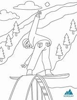 Colouring Pdf Resort Ski sketch template
