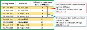 Prozentuale Differenz Berechnen : excel datum differenz mit der funktion datedif berechnen ~ Themetempest.com Abrechnung