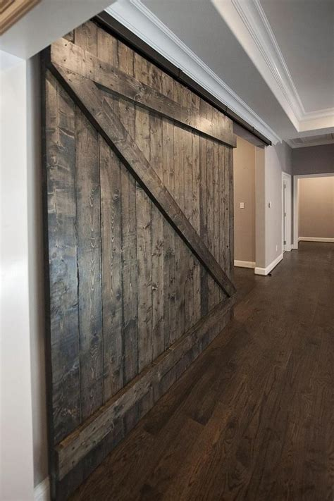 custom oversized sliding barn door serving  optional