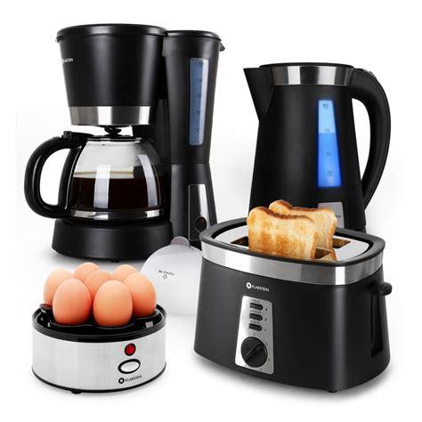 toaster und eierkocher fr 252 hst 252 cksset kaffeemaschine toaster wasser eierkocher