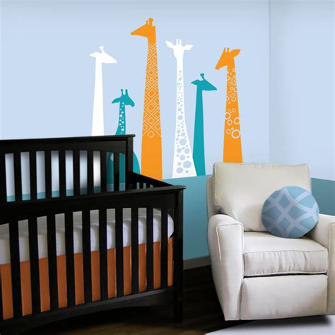 giraffe nursery wall decal custom color giraffe nursery