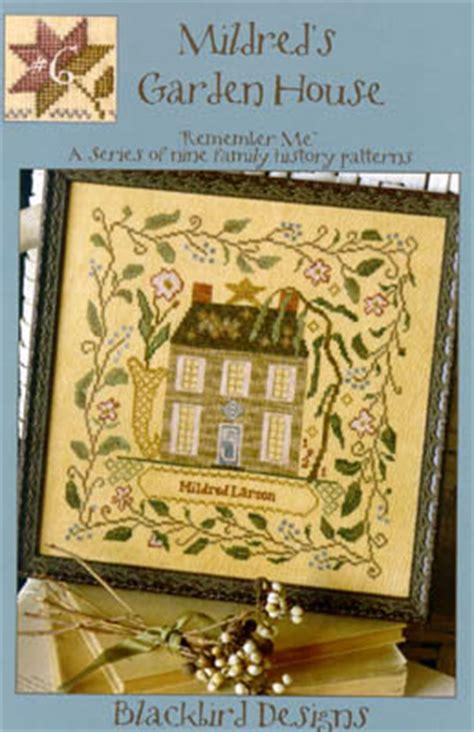 blackbird designs mildred s garden house cross stitch pattern 123stitch
