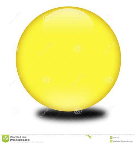 3d Yellow Colored Sphere Stock Illustration Illustration