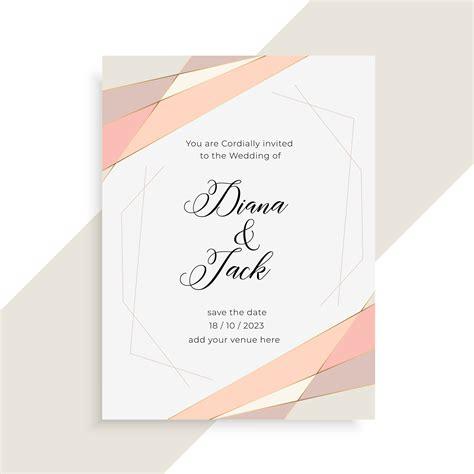 Subtle Elegant Wedding Invitation Card Design Download