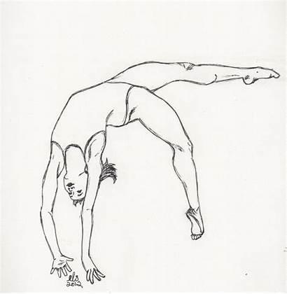 Gymnastics Drawings Drawing Draw Easy Sketches Kawaii