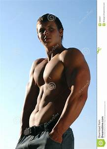 Young Muscular Athlete Stock Image  Image Of Athlete  Face