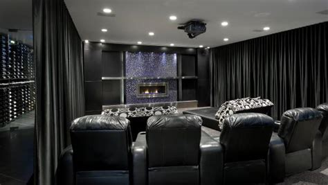 black home theater  curtains hgtv