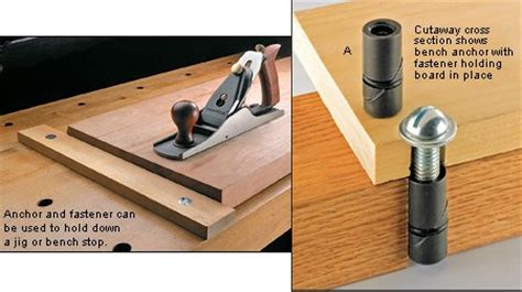 bench dog holes  woodworking