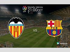 Primera La Liga BBVA 13th round Valencia vs FC Barcelona