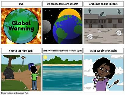 Service Warming Announcement Global Examples Earth Psa