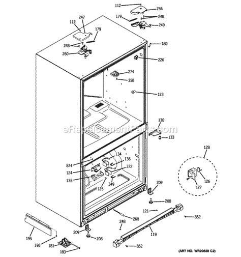 ge pgssrkzass parts list  diagram ereplacementpartscom