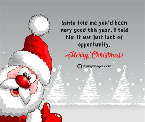 On this page you'll find a huge range of messages to help you spread some holiday cheer! Santa Claus Quotes Funny