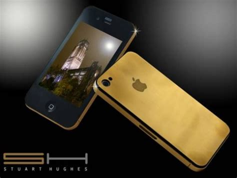 gold phone iphone 4g 24ct back gold plated 24ct solid gold iphone 4 craziest gadgets