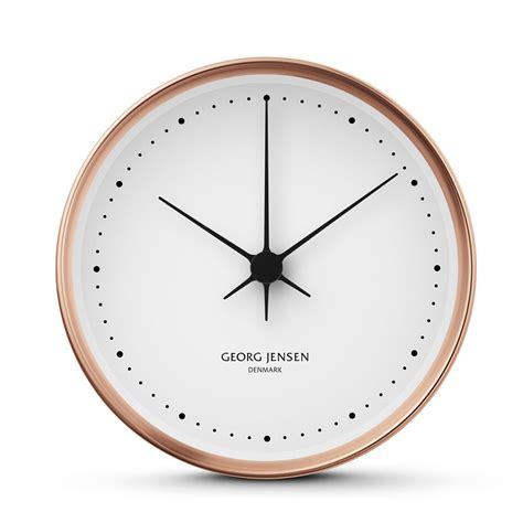 contemporary bedroom ceiling lights georg koppel wall clock copper 15cm panik design